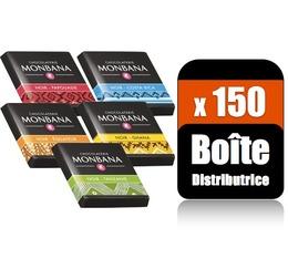 150 napolitains au chocolat noir Pure origine (Boite distributrice) - Monbana
