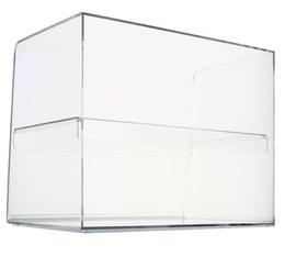 Présentoir fermé  2 niveaux en plexiglas