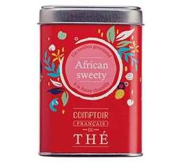 Rooibos en vrac boîte métal 'African Sweety' - Comptoir Français du Thé - 90g