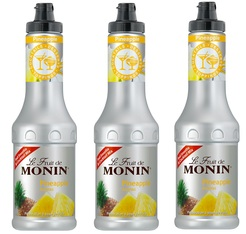 Lot de 3 Smoothies Fruit de Monin Ananas - 3 x 50 cl