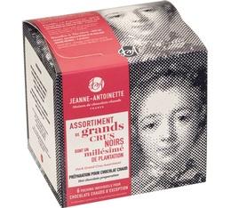 Assortiment Grands Crus Chocolat en poudre  - 3 saveurs - 6x40g - Jeanne-Antoinette