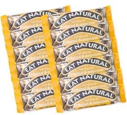 12 Barres gourmandes Cacahuète & PopCorn - Eat Natural
