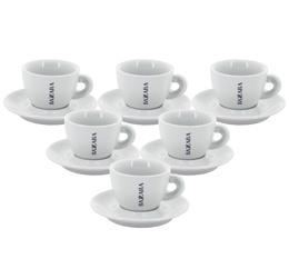 6 tasses et sous-tasses expresso Bazzara