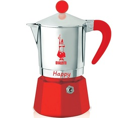Cafetière italienne Bialetti Happy rouge - 3 tasses