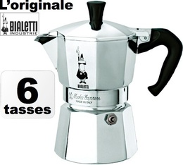 Cafetière italienne Bialetti Moka Express - 6 tasses