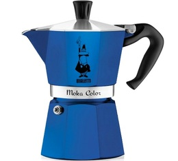Cafetière italienne Bialetti Moka Express Color bleue - 6 tasses