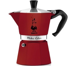 Cafetière italienne Bialetti Moka Express Color rouge bordeaux - 6 tasses