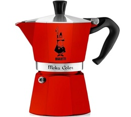 Cafetière italienne Bialetti Moka Express Color rouge - 6 tasses