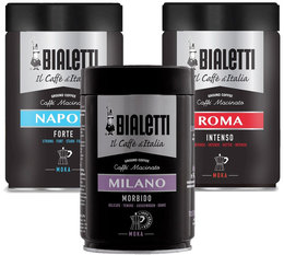 Bialetti pack of 3 ground coffees for Moka Pot