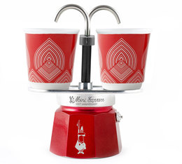 Cafetière italienne Mini express Collection Centenaire Bialetti 2 tasses + 2 bicchierini