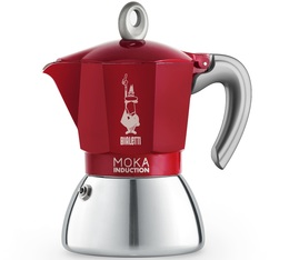 Cafetière italienne induction Bialetti New Moka Induction rouge - 6 tasses