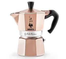 Cafetière italienne Bialetti Moka Express Rose Gold - 3 tasses