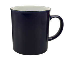 AOC retro stoneware mug in midnight blue - XL size 700ml