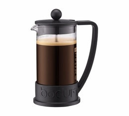 Bodum Brazil French Press in Black with Logo - 3 cups