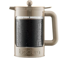 Bodum Bean Cold Brew French Press in beige for iced coffee 1.5L