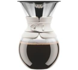 Cafetière filtre Bodum Pour Over blanche - 8 tasses