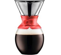 Cafetière filtre Bodum Pour Over rouge 12 tasses
