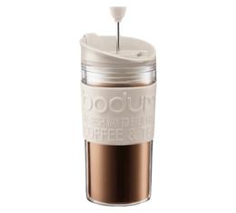 Travel Press piston Bodum blanc crème en plastique double paroi - 35 cl