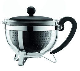 Bodum Chambord glass teapot with black acrylic infuser - 1L