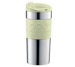 Bodum stainless steel insulated travel mug in Pistachio - 350ml