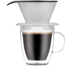 Bodum Pour Over Coffee Dripper with Double Wall Mug Shadow - 35cl
