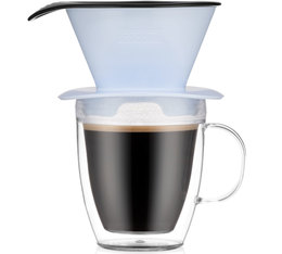 Bodum Pour Over Coffee Dripper with Double Wall Mug Blue Moon - 35cl