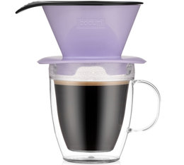 Bodum Pour Over Coffee Dripper with Double Wall Mug Verbena - 35cl