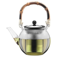 1L ASSAM tea press with stainless steel infuser and natural bamboo handle - Bodum