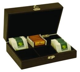 Coffret thé vide en bois - 6 compartiments - Concept Art