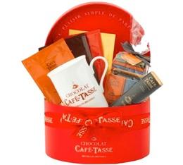 Boite à chapeaux rouge - Assortiment Chocolats - Café-Tasse