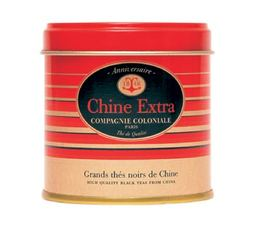 Boite Compagnie Coloniale Thé noir Chine Extra - 130 gr