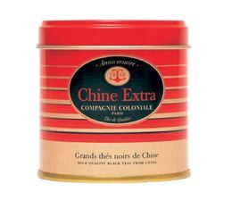 Boite Compagnie Coloniale Thé noir Chine Extra - 130 gr