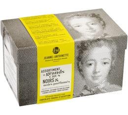 Assortiments Chocolat en poudre noir  - 6 saveurs - 12x40g - Jeanne-Antoinette