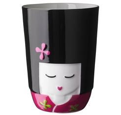 Double wall Porcelain 21 cl cup FOLKLORE sold in a cute tea box - Kokeshi (Japan)