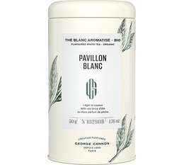 George Cannon 'Pavillon Blanc' organic flavoured white tea - 50g loose leaf in tin