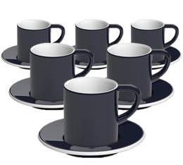 6 Tasses et sous-tasses Espresso Bond 8 cl Denim - Loveramics