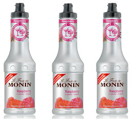 Lot de 3 Purées de Fruit de Monin - Framboise - 3 x 50 cl