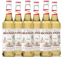 Lot Sirop Monin - Nougat - 6 x 70 cl