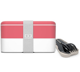 Lunch box Monbento MB Original Corail/Blanc + Couverts