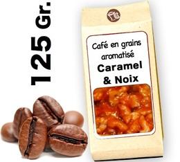 Café grain aromatisé   Caramel  et Noix - 125g