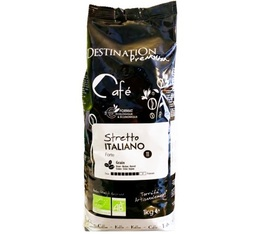 Café en grains Bio Stretto Italiano Arabica/Robusta Destination x 1 kg