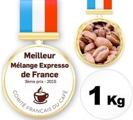 Café AA Blend - 3ème Prix du Meilleur Mélange Expresso de France 2015 - 1Kg - Cafés Chapuis