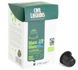 Capsules Mano Mano Bio x10 Café Liégeois compatibles Nespresso