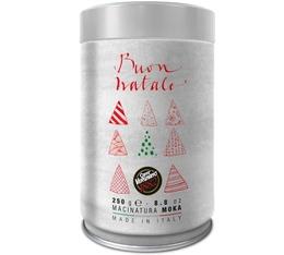 Boîte de Noël Blanche - Café moulu Caffè Vergnano 100% Arabica - 250gr