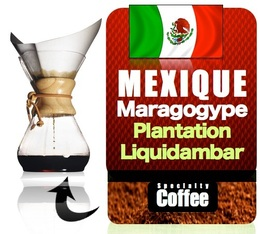 caf moulu pour cafeti re hario chemex maragogype 250 gr. Black Bedroom Furniture Sets. Home Design Ideas
