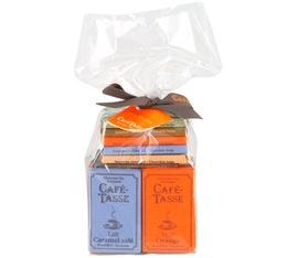 Sachet cristal assortiment 20 mini tablettes chocolat - Café-Tasse