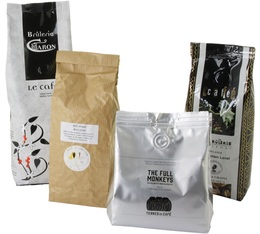 Pack des Champions (Exclusivité MaxiCoffee) : 4 cafés en grains x 250g