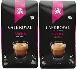Café en grains Crema 100% Arabica - 2x1kg - Café Royal