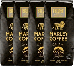 Café en grains bio - 100% Arabica Buffalo Soldier - 4x227g - Marley Coffee