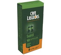 Capsules Subtil x10 Café Liégeois compatibles Nespresso